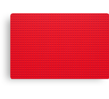 Building Block Brick Texture - Red Canvas Print