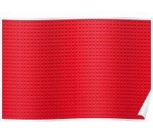 Building Block Brick Texture - Red Poster