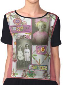 """""""What Are Little Girls Made Of"""" Chiffon Top"""