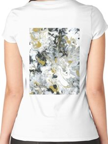 Lux Flow - Acrylic Painting Art Women's Fitted Scoop T-Shirt