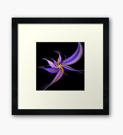Dancing Flower Fractal Framed Print