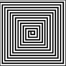 Black and White Square Spiral by EucalyptusBear