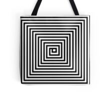 Black and White Square Spiral Tote Bag