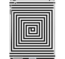 Black and White Square Spiral iPad Case/Skin