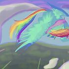 rainbow craaaaaaash by grunesgryphon