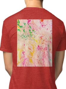 Psychedelic Flow- Acrylic Painting Art  Tri-blend T-Shirt
