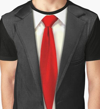 Blood Tie, Black Suit Graphic T-Shirt