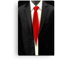 Blood Tie, Black Suit Canvas Print