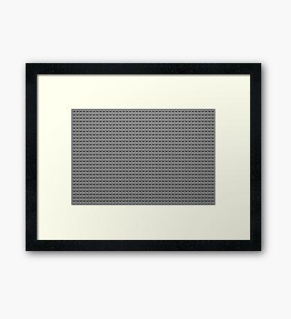 Building Block Brick Texture - Gray Framed Print