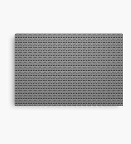 Building Block Brick Texture - Gray Canvas Print