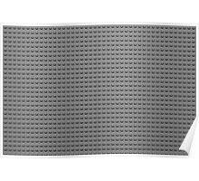 Building Block Brick Texture - Gray Poster