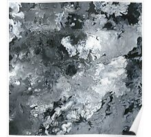 Contrast Flow - Acrylic Painting Art Poster