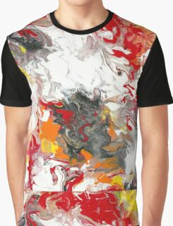 Fiery Flow - Acrylic Painting Art Graphic T-Shirt