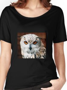 Owl Stare Women's Relaxed Fit T-Shirt