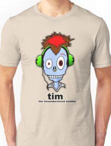 Tim...the misunderstood zombie (variation blue) Unisex T-Shirt