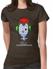 Tim...the misunderstood zombie (variation blue) Womens Fitted T-Shirt
