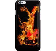 guitar fire iPhone Case/Skin