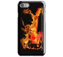 guitar fire iPhone Case/Skin