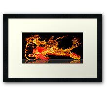 guitar fire Framed Print