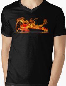 guitar fire Mens V-Neck T-Shirt