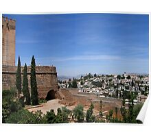 Granada view from the Alhambra Poster