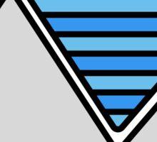 Striped Mountain Range Sticker