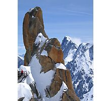 French alps from Aguille du Midi Photographic Print
