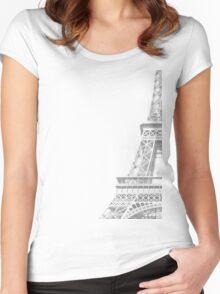 hint of eifel  Women's Fitted Scoop T-Shirt