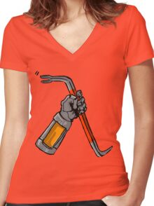 Half Life Tee (classic) Women's Fitted V-Neck T-Shirt