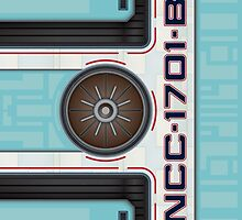 NCC-1701-B Hull iPhone Case by Jon Kolton