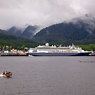 En-Route to Alaska, Cruise Liner, Ketchikan. by johnrf