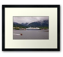 En-Route to Alaska, Cruise Liner, Ketchikan. Framed Print