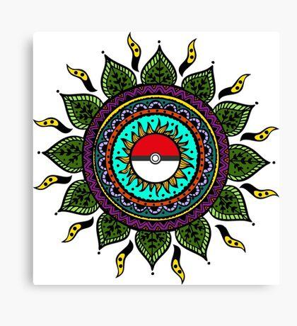 Pokemon Tribal Canvas Print