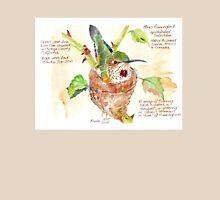 Phoebe, the Allen's Hummingbird - Botanical Womens Fitted T-Shirt