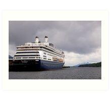 Cruise Liner, Ketchikan, Alaska. Art Print