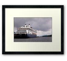 Cruise Liner, Ketchikan, Alaska. Framed Print