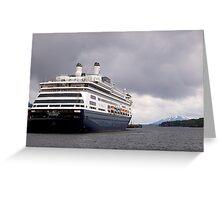 Cruise Liner, Ketchikan, Alaska. Greeting Card