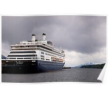 Cruise Liner, Ketchikan, Alaska. Poster