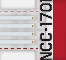 NCC-1701 Hull iPad Case by Jon Kolton