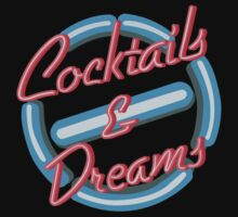 Sale for Charity Cocktails and Dreams neon sign typograph by Latifa Salma lufa Poerawidjaja