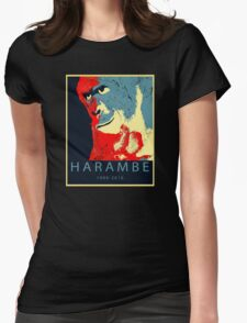 Harambe Gorilla Womens Fitted T-Shirt