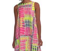 Shocking Stroke A-Line Dress
