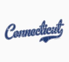 Connecticut Script Font Blue VINTAGE by USAswagg