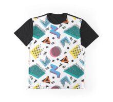 Memphis Retro Style Graphic T-Shirt