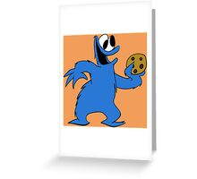Cookie Monster with cookie Greeting Card