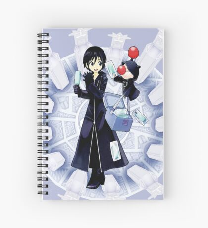 Xion and Moogle Kingdom Hearts 358/2 days Spiral Notebook