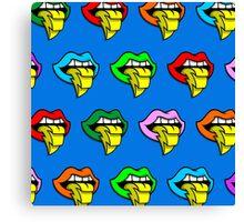 Lighting Rainbow Tongue Canvas Print