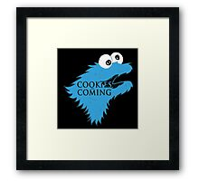 Cookies Are Comming Framed Print