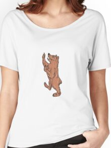 American Black Bear Prancing Drawing Women's Relaxed Fit T-Shirt