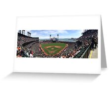 AT&T Park SF Giants Panorama Greeting Card